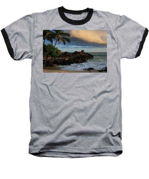 Aloha Naau Sunset Paako Beach Honuaula Makena Maui Hawaii Baseball T-Shirt