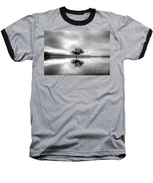 Alone Bw Baseball T-Shirt
