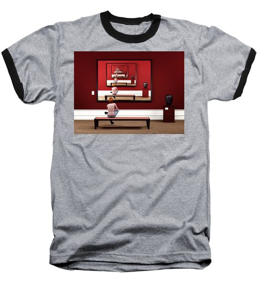 Baseball T-Shirt featuring the digital art Alone In My Gallery by Shinji K