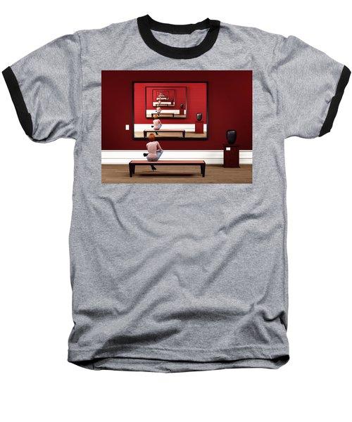 Alone In My Gallery Baseball T-Shirt