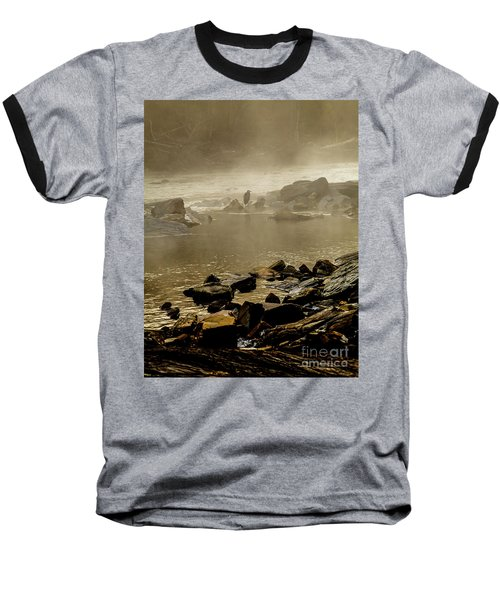 Baseball T-Shirt featuring the photograph Alone In The Mist by Iris Greenwell