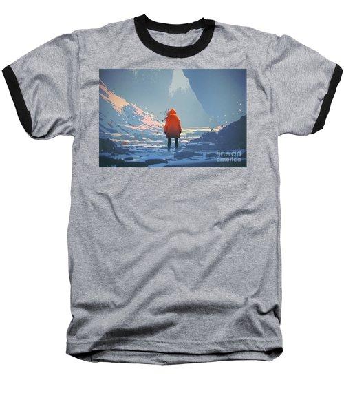 Alone In Winter Baseball T-Shirt