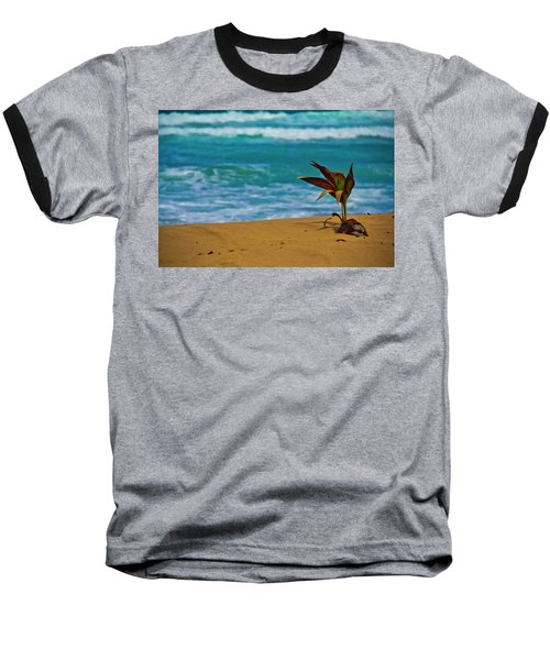 Alone On The Beach Baseball T-Shirt