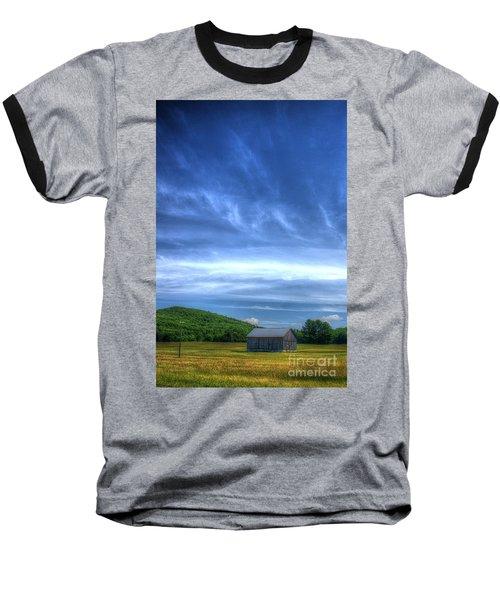 Alone Baseball T-Shirt by Randy Pollard