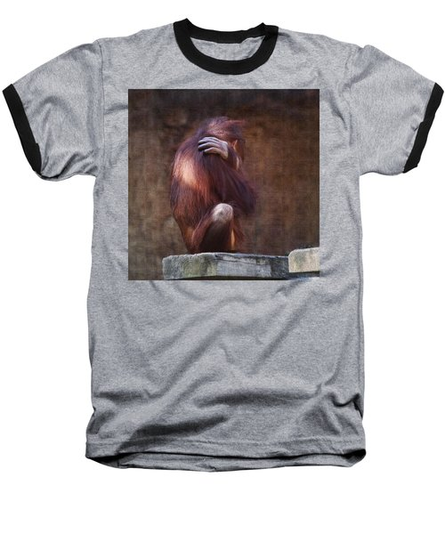 Baseball T-Shirt featuring the photograph Alone by Sharon Jones