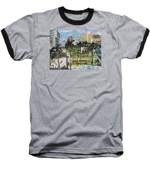Along Flagler Drive Baseball T-Shirt