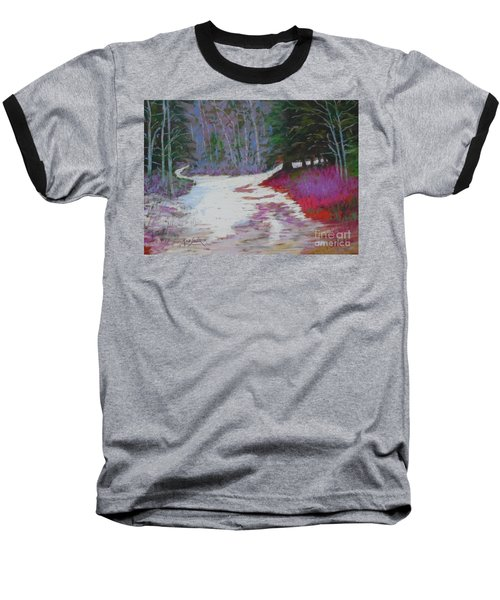 Along The 103  Baseball T-Shirt by Rae  Smith PAC