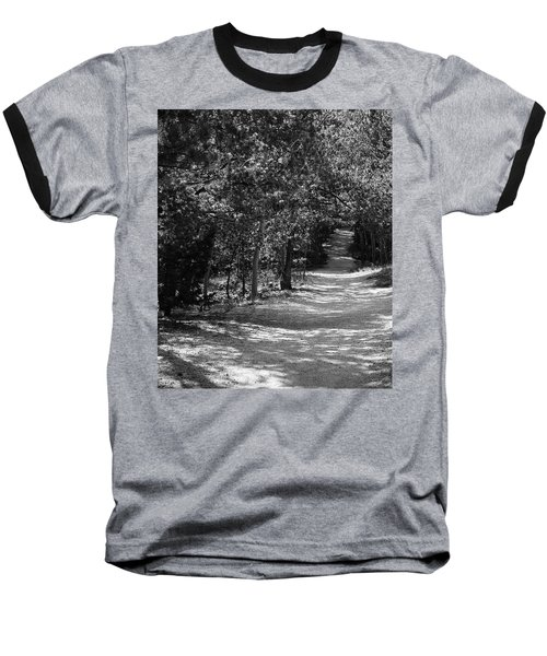 Along The Barr Trail Baseball T-Shirt by Christin Brodie