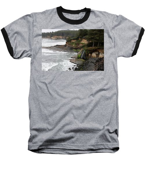 Along The Oregon Coast - 7 Baseball T-Shirt