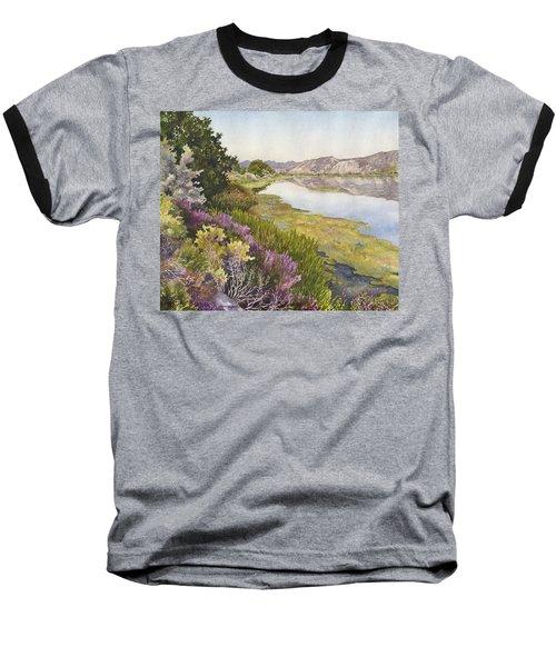 Along The Oregon Trail Baseball T-Shirt by Anne Gifford