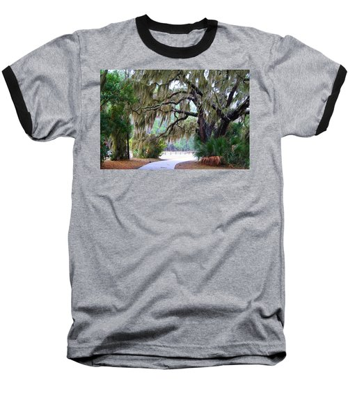 Baseball T-Shirt featuring the photograph Along The Path by Kathryn Meyer
