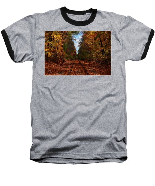 Along The Rails Baseball T-Shirt by Tricia Marchlik