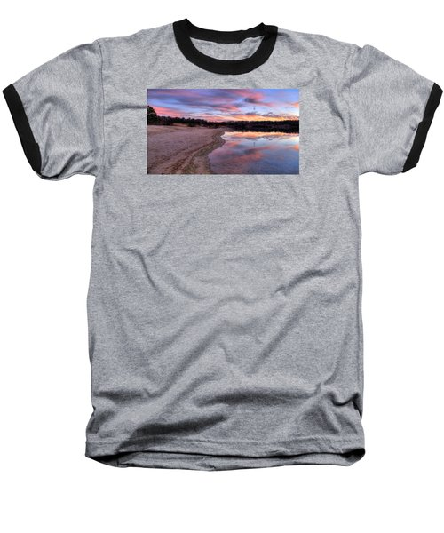Along The Shoreline Baseball T-Shirt by John Loreaux