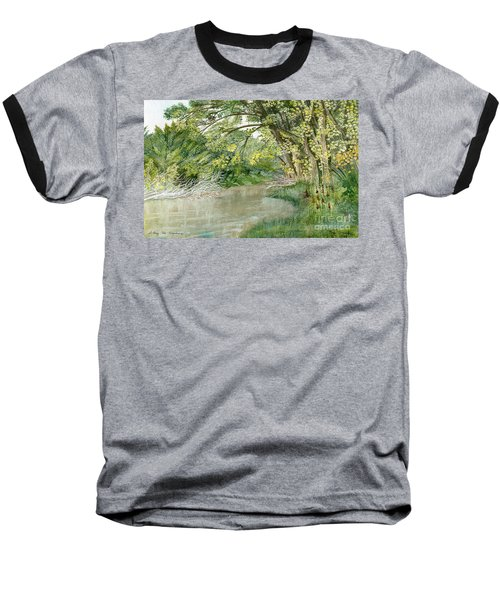 Baseball T-Shirt featuring the painting Along The Susquehanna by Melly Terpening