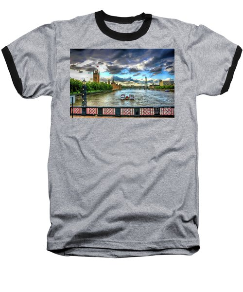 Along The Thames Baseball T-Shirt