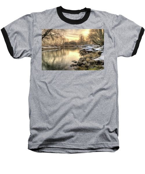 Along The Thames River Signed Baseball T-Shirt