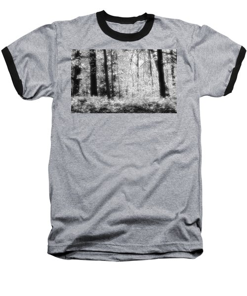 Along The Top Bw  Baseball T-Shirt by Lyle Crump