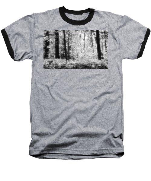 Along The Top Bw  Baseball T-Shirt