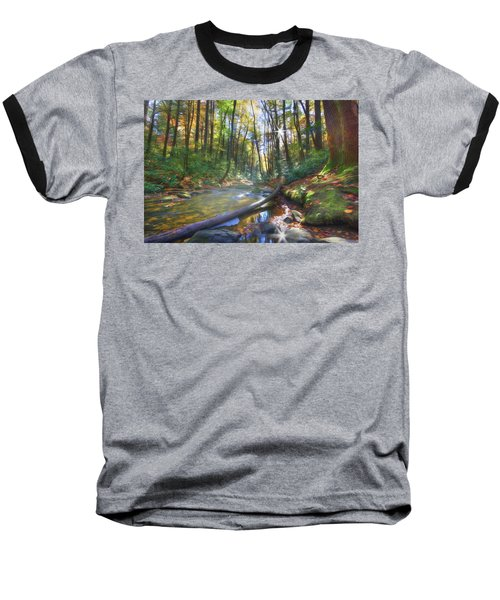 Baseball T-Shirt featuring the digital art Along The Trail In Georgia by Sharon Batdorf
