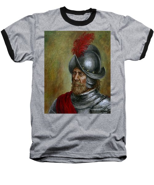 Alonso De Alvarado Baseball T-Shirt by Arturas Slapsys