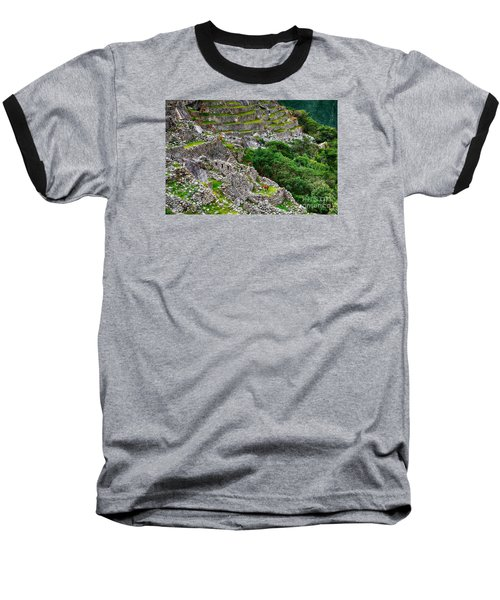 Alpacas At Machu Picchu Baseball T-Shirt