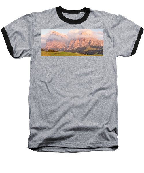Alpe Di Suisi Sunset Panorama Baseball T-Shirt