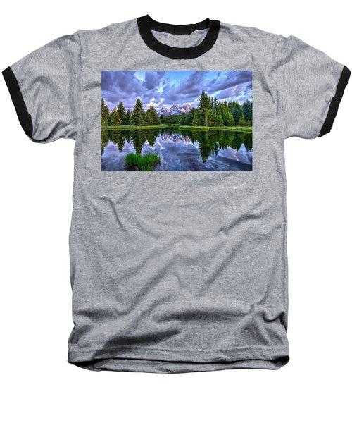 Alpenglow In The Tetons Baseball T-Shirt