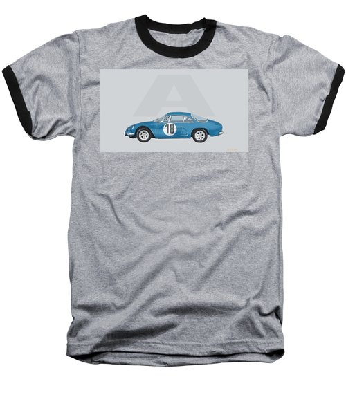 Baseball T-Shirt featuring the mixed media Alpine A110 by TortureLord Art