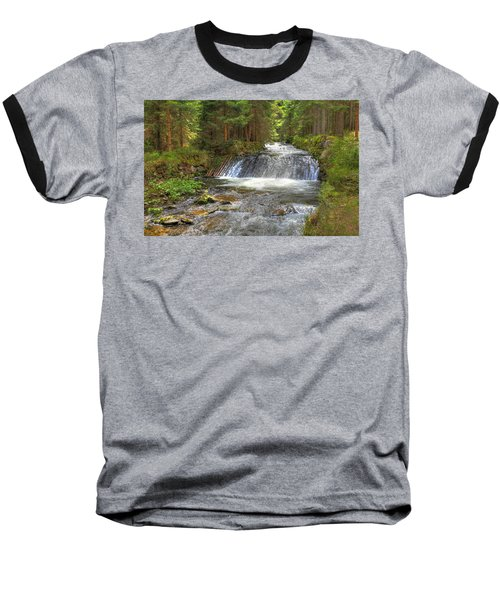Alpine Fish Ladder Baseball T-Shirt