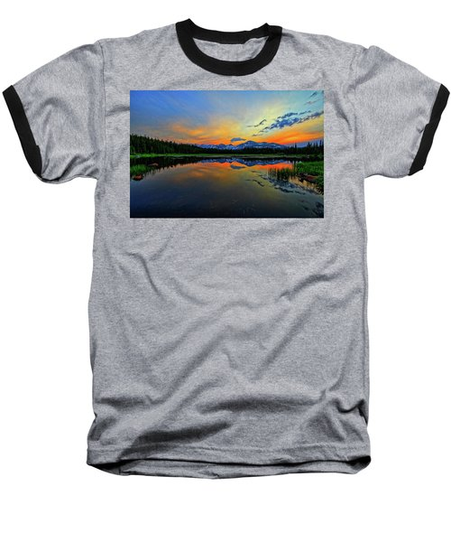 Baseball T-Shirt featuring the photograph Alpine Lake Glow by Scott Mahon