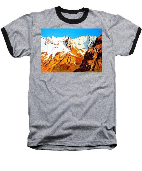Alpine Landscape Baseball T-Shirt by Henryk Gorecki