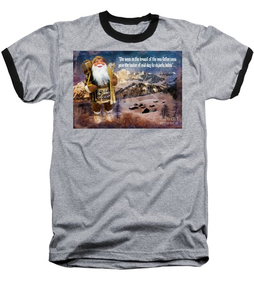 Alpine Santa Card 2015 Baseball T-Shirt
