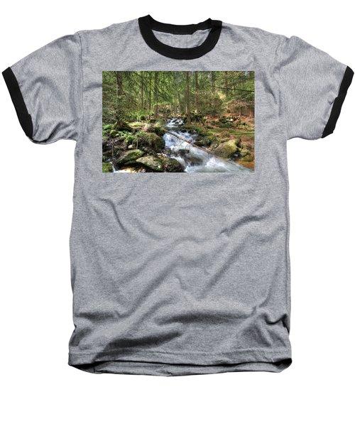 Alpine Water Falls Baseball T-Shirt