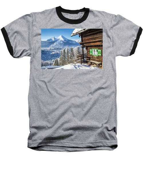 Alpine Winter Wonderland Baseball T-Shirt