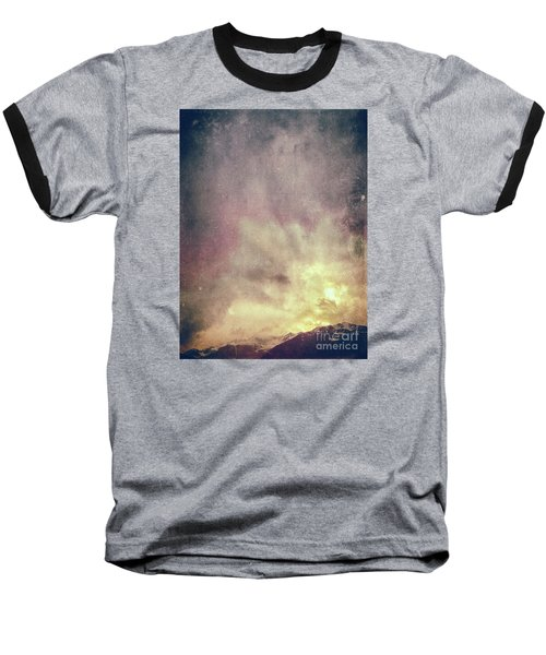 Baseball T-Shirt featuring the photograph Alps With Dramatic Sky by Silvia Ganora
