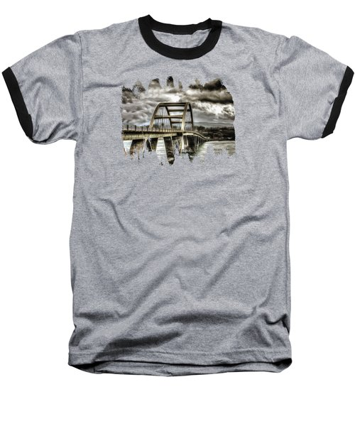 Alsea Bay Bridge Baseball T-Shirt by Thom Zehrfeld