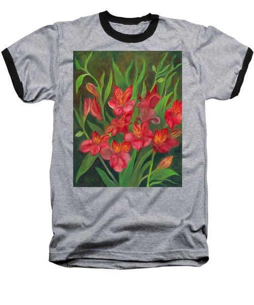 Alstroemeria Baseball T-Shirt