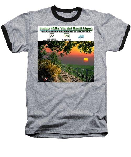 Alta Via Dei Monti Liguri Cd Case Label Baseball T-Shirt