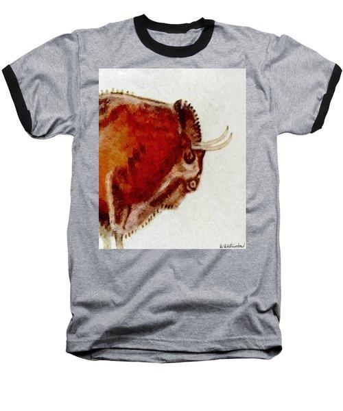 Altamira Prehistoric Bison Detail Baseball T-Shirt