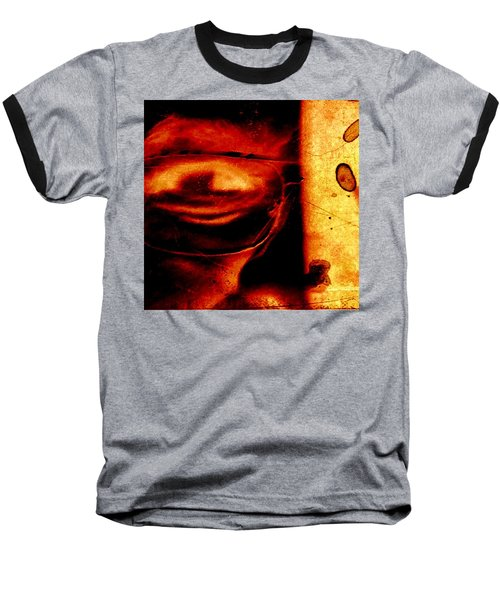 Altered Image In Red Baseball T-Shirt