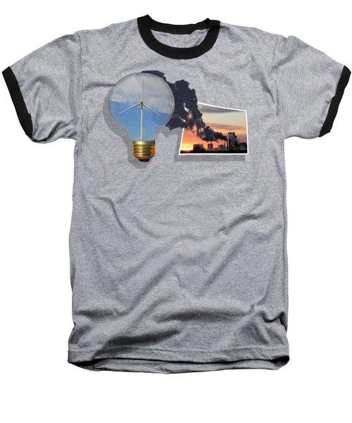 Alternative Energy Baseball T-Shirt by Shane Bechler