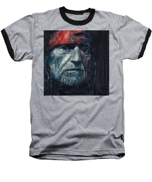 Always On My Mind - Willie Nelson  Baseball T-Shirt by Paul Lovering
