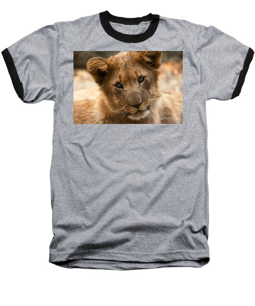 Baseball T-Shirt featuring the photograph Am I Cute? by Christine Sponchia