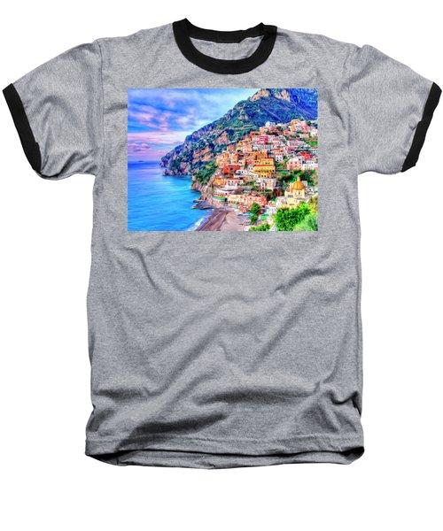 Amalfi Coast At Positano Baseball T-Shirt