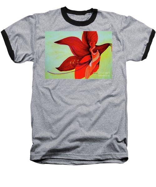 Amaryllis Blossom Baseball T-Shirt