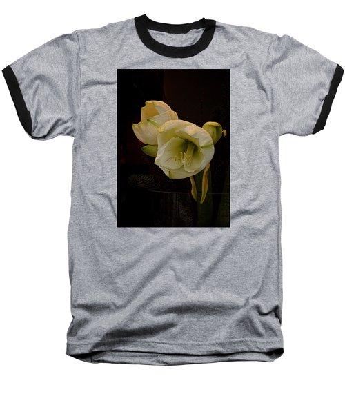 mont Blanc Amaryllis No. 1 Baseball T-Shirt by Richard Cummings