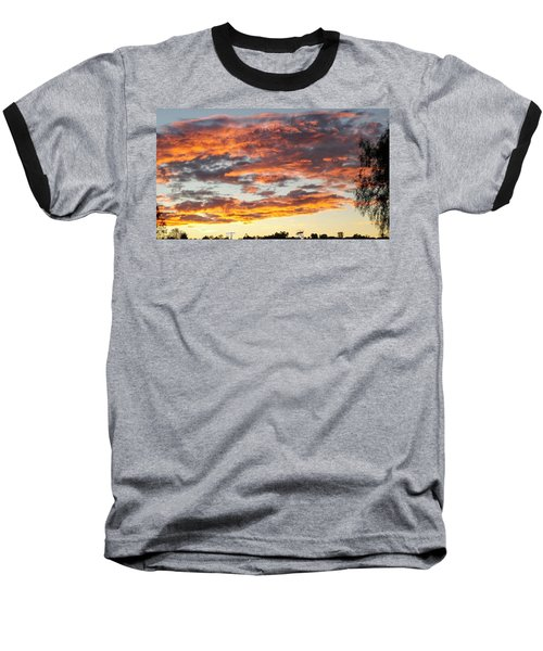 Clouds On Fire Baseball T-Shirt