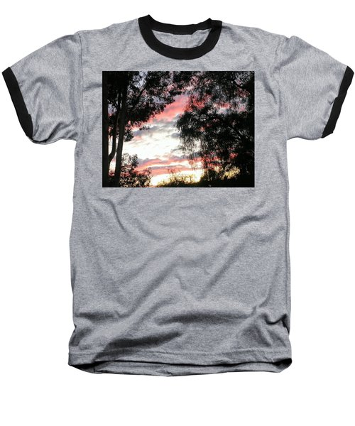 Amazing Clouds Black Trees Baseball T-Shirt
