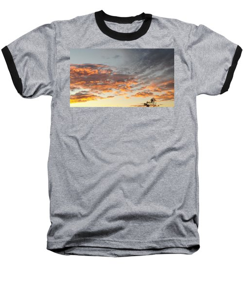 Fiery Sunset Baseball T-Shirt
