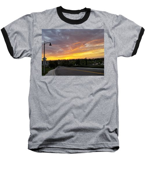 Colorful Sunset In Mission Viejo Baseball T-Shirt